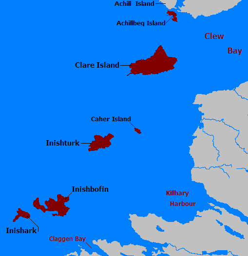 Islands Of Ireland Map.Inish