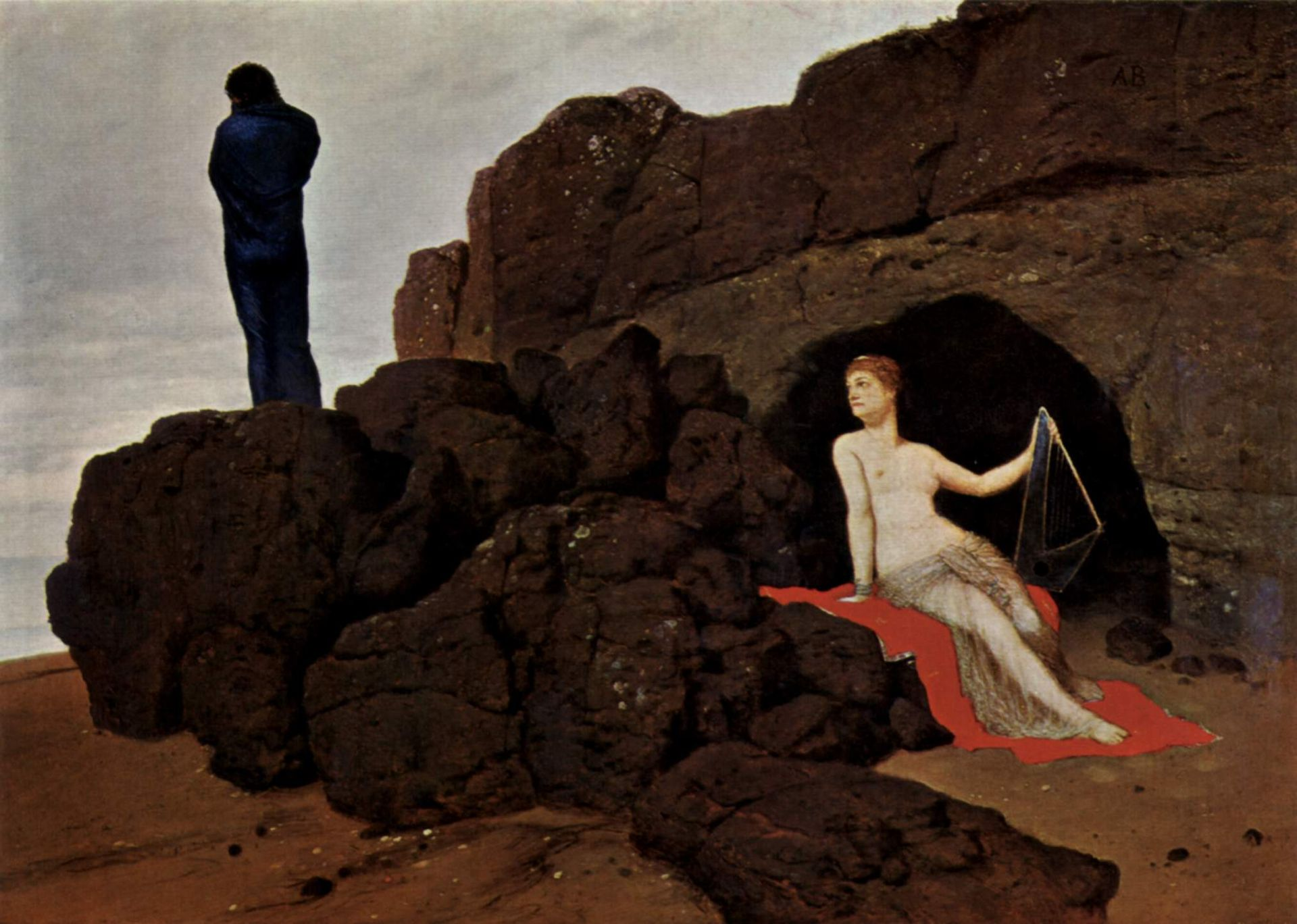 Odysseus And Calypso 1883 Oil On Panel Painting By Arnold Bocklin Held In The Kunstmuseum Basel Source Wikimedia Commons